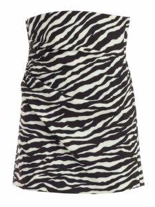 Parosh Skirt Short Animalier W/drape