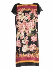 TwinSet Dress S/s W/belt Flowers Printing