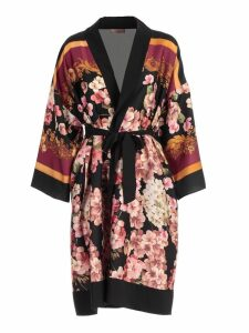 TwinSet Dress Kimono Flowers Printing