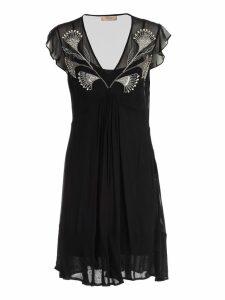 TwinSet Dress W/s V Neck W/embroidery