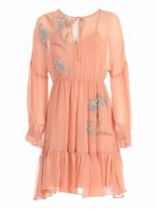 TwinSet Dress L/s W/embroidery Swarovsky