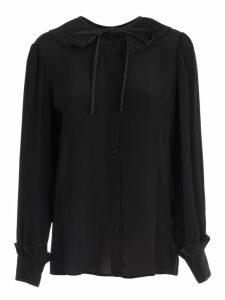 TwinSet Shirt L/s W/plisse On Neck