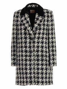 TwinSet Coat Single Breasted Pied De Poule