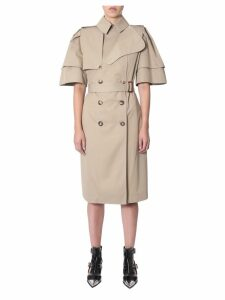 Alexander McQueen Frill Sleeved Trench