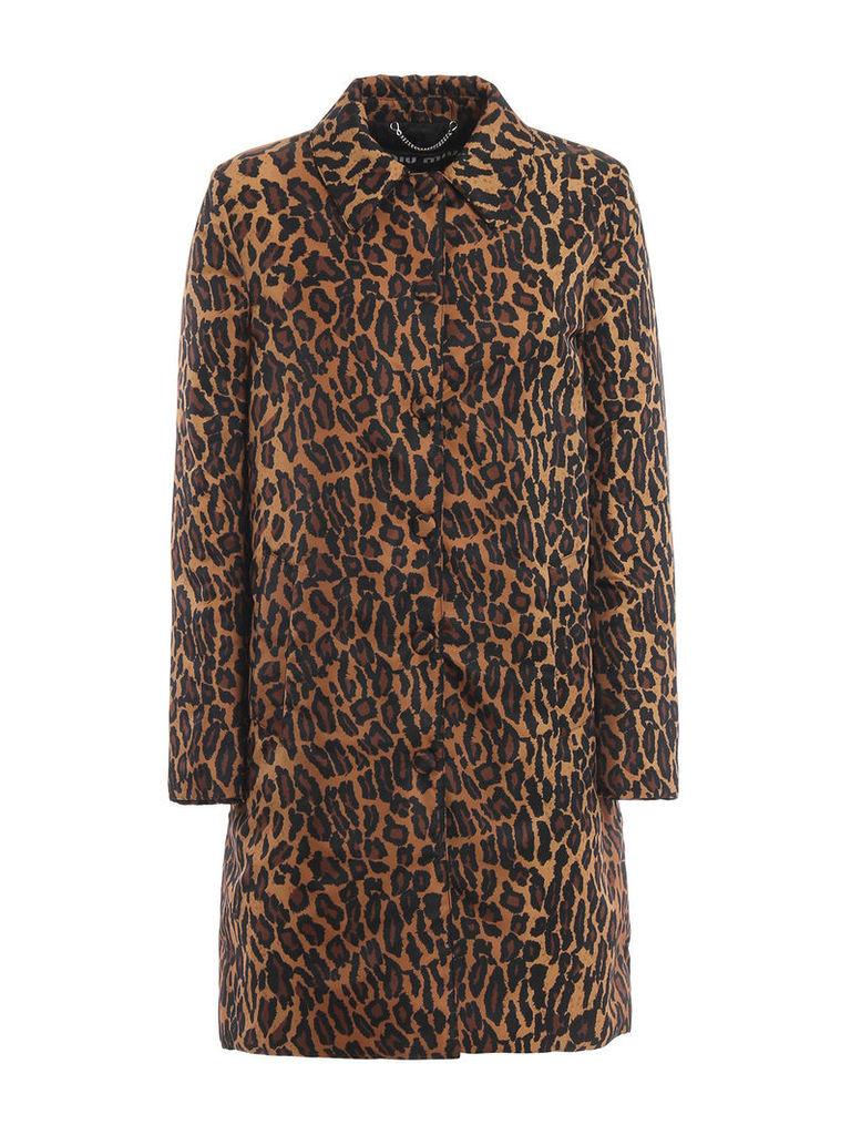 Miu Miu Coat Leopard