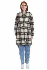 Isabel Marant Étoile Gabriel Coat In Khaki Wool