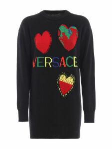 Versace Logo Printed Pullover