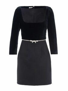 Miu Miu Embellished Bow Mini Dress