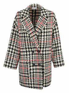 Red Valentino Pied De Poule Coat