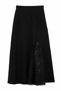 Givenchy Lace Inserts Knit Skirt