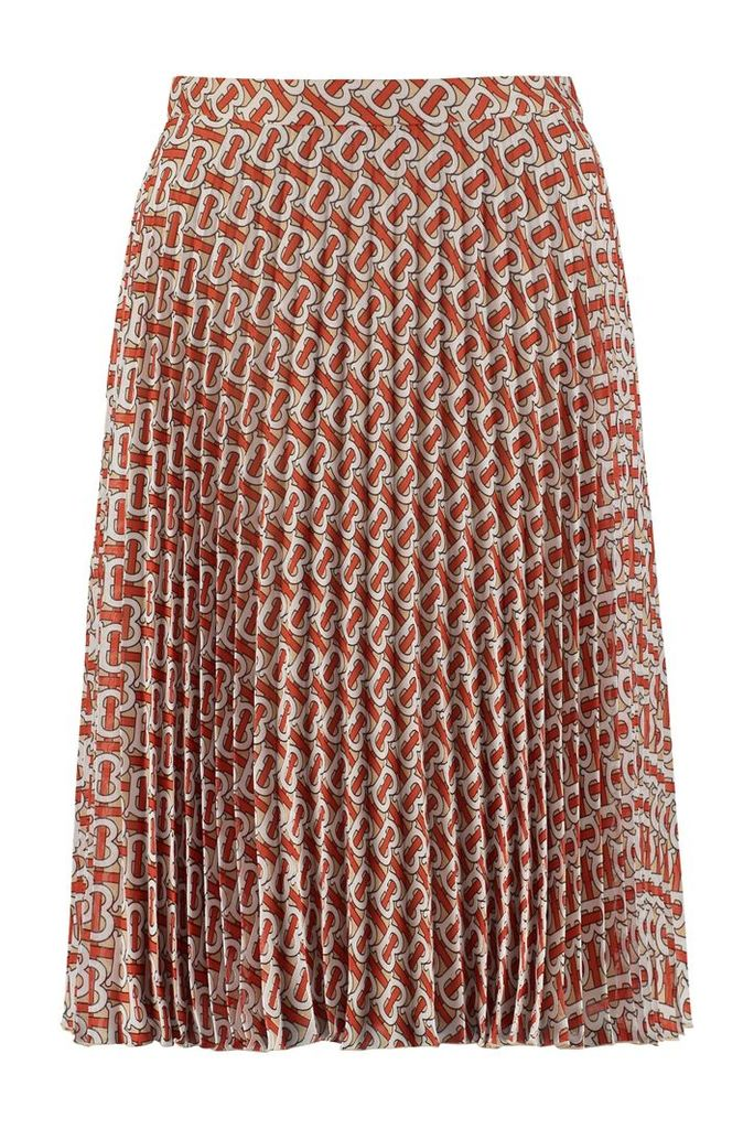 Burberry Printed Pleated Skirt