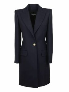 Balmain One Button Wool Coat