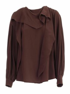 SEMICOUTURE Shirt L/s W/scarf On Neck
