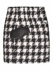 Houndstooth Pattern Skirt