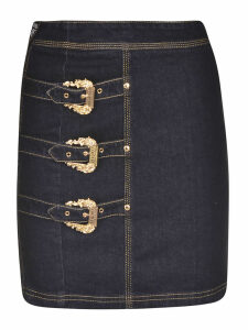 Versace Jeans Couture Denim Str. Skirt