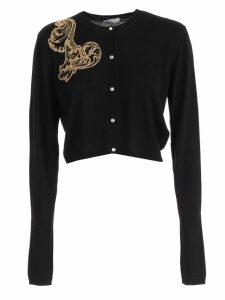 Versace Collection Cardigan W/gold Medusa