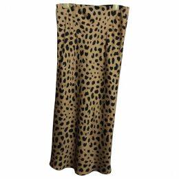 Naomi silk mid-length skirt