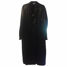 Black Viscose Coat