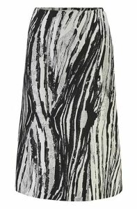 Regular-fit A-line skirt in Italian jacquard