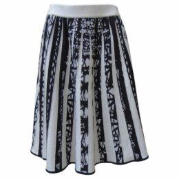 Cashmere mid-length skirt