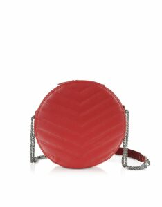 Lancaster Paris Parisienne Quilted Leather Round Crossbody Bag