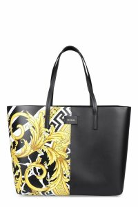 Versace Printed Leather Tote