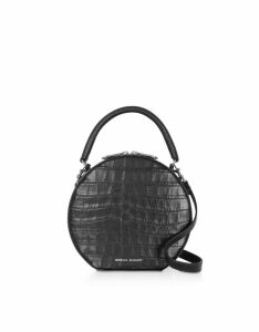 Rebecca Minkoff Croco Embossed Leather Circle Bag Crossbody Bag