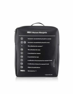 Mm6 Maison Martin Margiela Black Square Signature Backpack