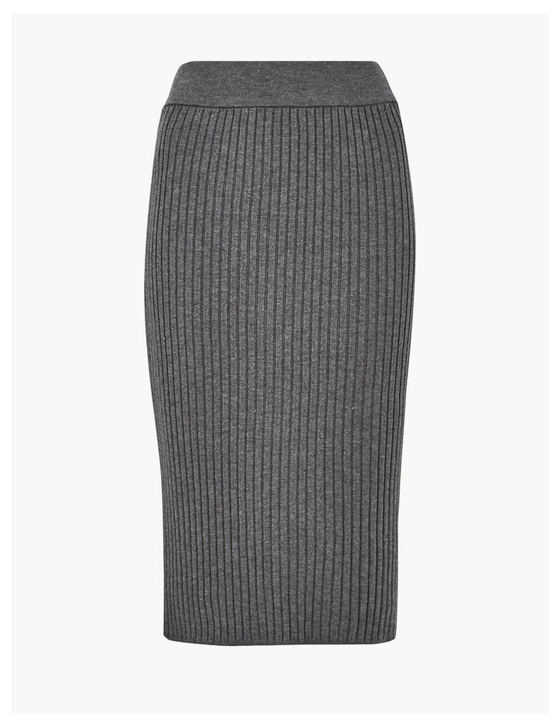 M&S Collection Knitted Pencil Midi Skirt