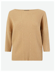 M&S Collection Ribbed Dropped Shoulder Jumper