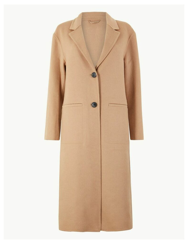 M&S Collection Double Faced Longline Coat
