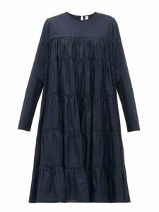 Merlette - Essaouira Tiered Cotton Lawn Dress - Womens - Navy