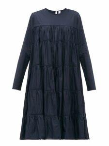 Merlette - Essaouira Tiered Cotton Lawn Dress - Womens - Navy