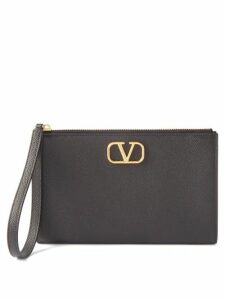 Valentino - Logo Print Tie Neck Silk Dress - Womens - Ivory Multi