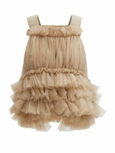 Erdem - Jayla Crepe De Chine Midi Dress - Womens - White Print