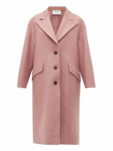 Harris Wharf London - Peak Lapel Single Breasted Wool Coat - Womens - Light Pink