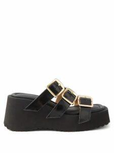 Dolce & Gabbana - Lily Print Shantung Silk Midi Skirt - Womens - Pink Multi
