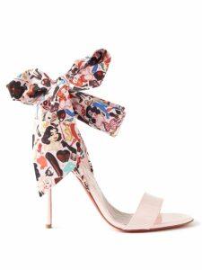 Rebecca Taylor - Ruffled Striped Linen Mini Wrap Dress - Womens - Cream Multi