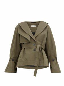 Palmer//harding - Belted Cotton Twill Jacket - Womens - Khaki