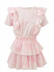 Ganni - Tiger Print Silk Blend Satin Slip Dress - Womens - Black Green