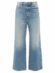 Thom Browne - Striped High Neck Wool Sweater - Womens - Navy