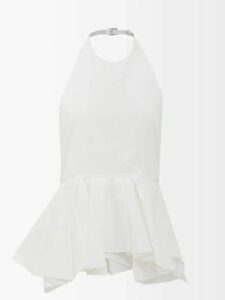 Johanna Ortiz - Waiting For Sunrise Silk Organza Gown - Womens - Pink Multi