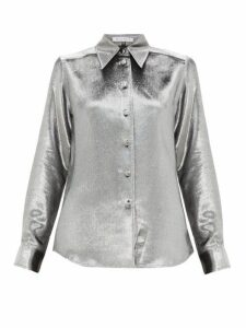 Bella Freud - Sparkle Little Prince Silk Blend Shirt - Womens - Silver