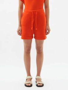 Rebecca Taylor - Lita Linen And Cotton Blend Midi Dress - Womens - Coral