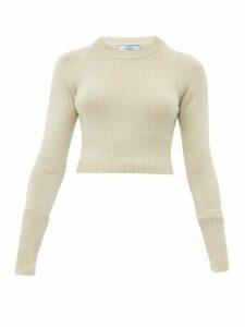 Prada - Cropped Cashmere Sweater - Womens - Beige