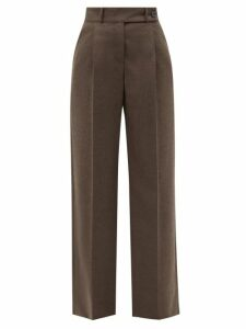 Redvalentino - Heart Print Pleated Crepe Midi Dress - Womens - Pink Multi
