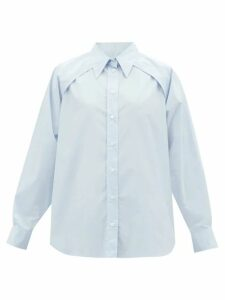 Redvalentino - Heart Print Pleated Midi Skirt - Womens - Black Multi