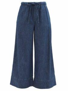 Redvalentino - Heart Print Pleated Midi Dress - Womens - Black Multi