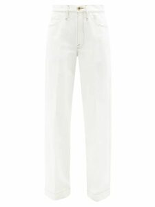 Jil Sander - Single Breasted Wool Coat - Womens - Light Grey
