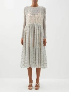 Jil Sander - Slit Roll Neck Cashmere Blend Sweater - Womens - Beige Multi
